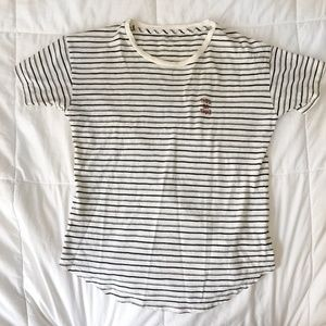 Madewell This or That Embroidered Striped Shirt